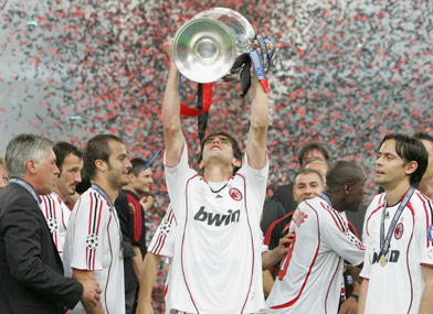 Kaka Win Champions League with AC Milan
