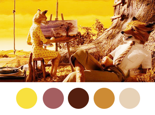 Fantastic Mr. Fox (2009) colors palette