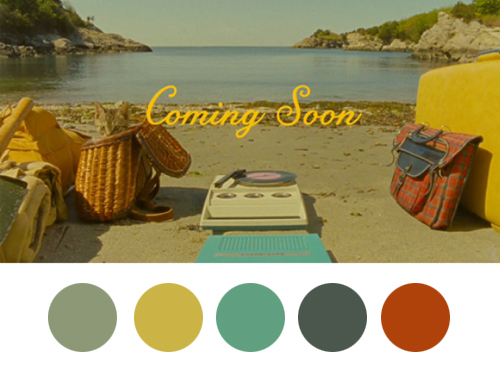 Moonrise Kingdom (2012) Colors Palette