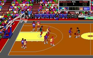 Lakers vs Celtics play court