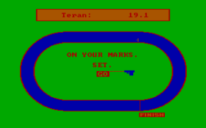 The 100m and 400m sprint screenshot. Quick fingers required!