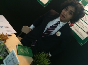 Omar, the young philosopher presented his deeply-though Islamic book for teen.