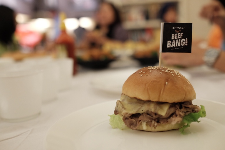 Beef Bang! Burger as main dish