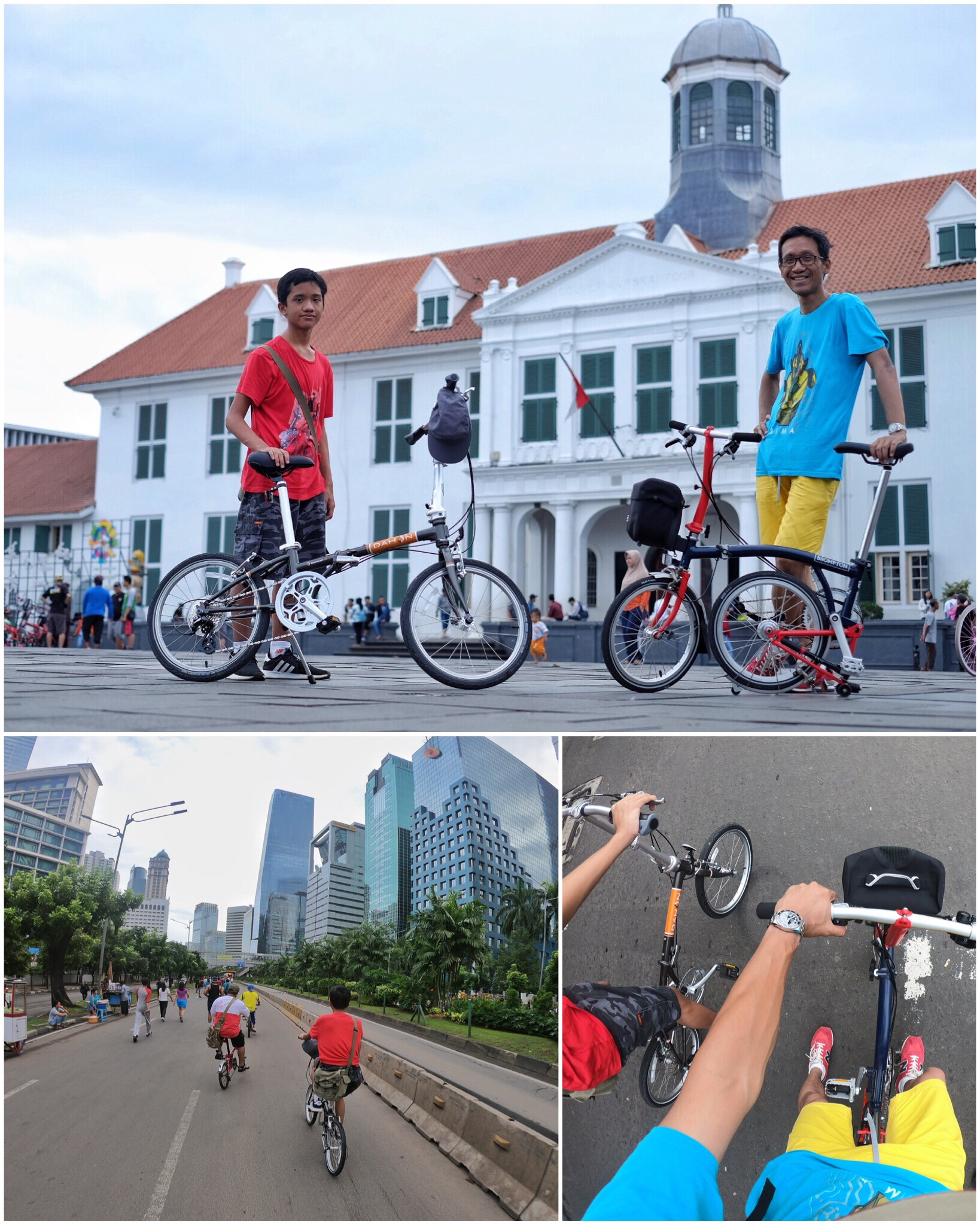 How to Ride a Bicycle in Jakarta foto